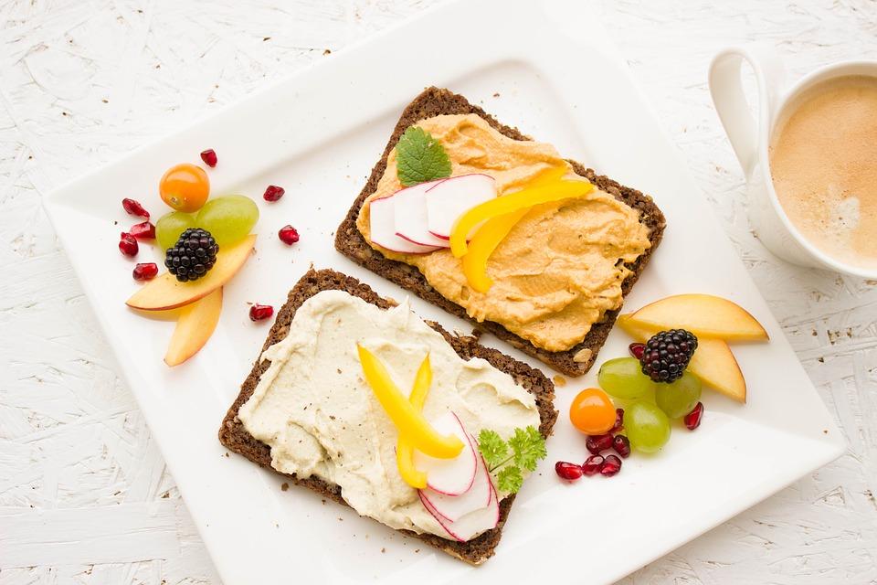zdravé raňajky, chlieb